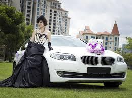 bmw car rental white bmw 523i f10 for bridal car rent
