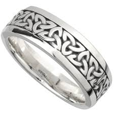 what does a knot ring wedding band sterling silver mens celtic knot ring