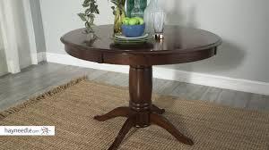 Espresso Pedestal Dining Table Belham Living Spencer Round Pedestal Dining Table Espresso