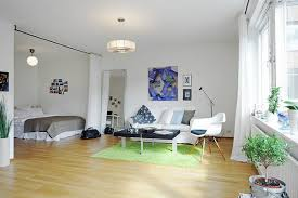 Studio Apartment Setup Ideas Interior One Room Apartment Scandinavian Luxury Studio Design