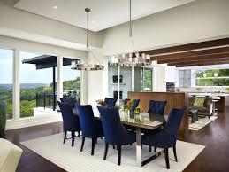dining table via atlanta homes magazine blue dining room chairs