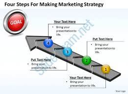 business powerpoint templates four steps for making marketing