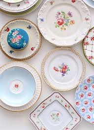 vintage china pattern a mismatched table