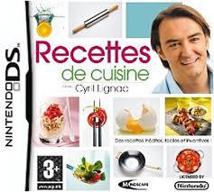 jeu de la cuisine recettes de cuisine avec cyril lignac sur nintendo ds jeux vidéo