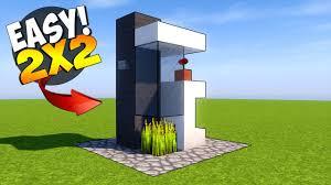 Modern House Minecraft Minecraft 2x2 Modern House Tutorial Smallest Minecraft House