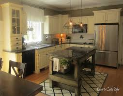 Small L Shaped Kitchen by Small L Shaped Kitchen Design With Island And Earth Tone Colors
