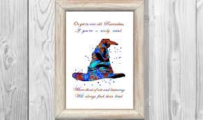harry potter poster quote ravenclaw watercolor print sorting