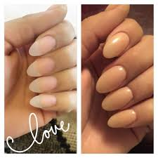 oval shaped acrylics with a shear gel polish on top love yelp