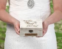 engraved pillows ring bearer box etsy