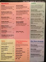 menu of morris family restaurant restaurant bloomsburg
