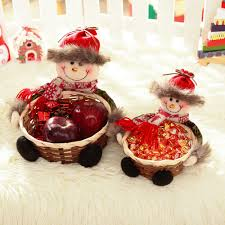 online shop christmas candy storage basket decoration santa claus