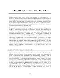 Pharmaceutical Resume Resume Objective For Pharmaceutical Sales Rep Sidemcicek Com