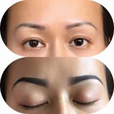 eyebrow before and after 2month 3d permanent makeup trish nguyen