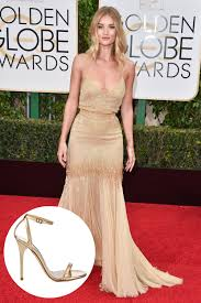what shoes celebrities wore on the golden globes 2016 red carpet