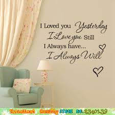 aliexpress com buy romantic words quote wall stickers waterproof aliexpress com buy romantic words quote wall stickers waterproof wall letter i love you forever decals home decorations bedroom vinyl wall stickers from