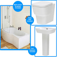 shower bath suites cambria back to wall toilet and basin with shower bath suite