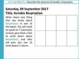 aqa gcse b9 respiration l1 aerobic respiration by