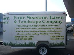 vinyl lettering and vinyl decals for four seasons landscaping in