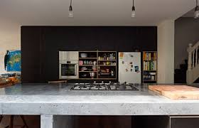 a long kitchen island interiors by color