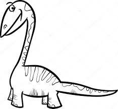 pagina da colorare di dinosauri apatosaurus u2014 vettoriali stock