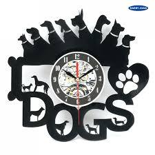 wall clocks dog shaped wall clocks black dog wall clock dog wall