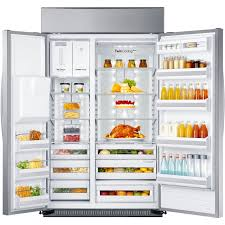 Samsung Counter Depth Refrigerator Side By Side by Amazon Com Samsung Rs27fdbtnsr Built In Side By Side Refrigerator