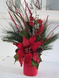 Mason Jar Floral Centerpieces Winter Mason Jar Floral Arrangement Holiday Mason Jar Christmas