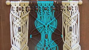 Macrame Home Decor by Macrame Art Macrame Wall Decor Large Turquoise Macrame Wall