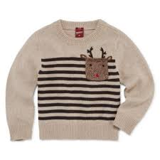 arizona crew neck sleeve knit pullover sweater toddler