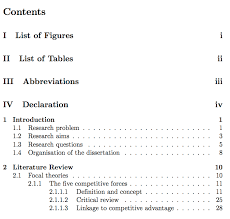 what does table of contents mean individual manual page numbers for table of contents tex latex