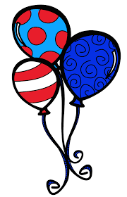 dr seuss balloons patriotic birthday cliparts free clip free clip