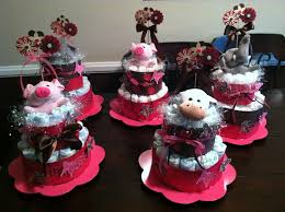scrappin time with bec diaper cake centerpieces