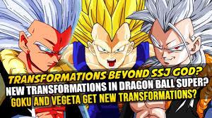 dragon ball goku vegeta transformations super