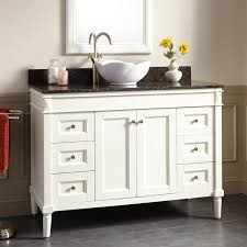 48 white bathroom vanity with vessel sink home bathroom