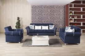 blue living room set royal home sofa set riva dark blue 3pc 2 494 94 furniture