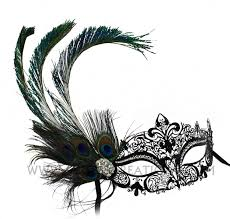 peacock masquerade masks peacock feathered metal laser cut masquerade mask
