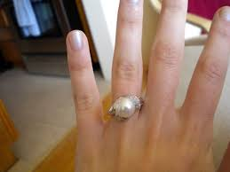 pearl and diamond engagement rings show me your non diamond engagement rings weddingbee