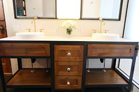 metal bathroom vanity with wood drawers a custom built metal
