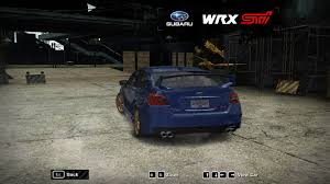 subaru wrx customized need for speed most wanted subaru wrx sti nfscars