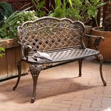 Copper Patio Table Outdoor Patio Furniture Floral Design Antique Copper Cast Aluminum