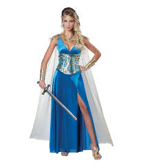 and fierce warrior queen woman costume seductively