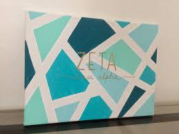 zeta tau alpha painted canvas pinteres