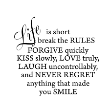 amazon com life is short inspirational vinyl wall quote words