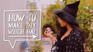 diy halloween costume how to make a diy witch hat for a
