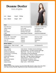 entertainment resume template modeling resume template child modeling resume exle pic child