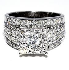 big wedding rings 1 75cttw wedding ring 3 in 1 top