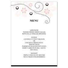 wedding menu templates pink black wedding menu templates soft pink do it
