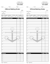 printable baseball lineup cards infocard co