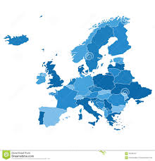 map europe vector detailed vector map europe stock vector image of vector 56235242