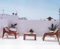 White Modern Outdoor Furniture by Ravishing Rooftop Patio Design In Enchanting Home Architecture